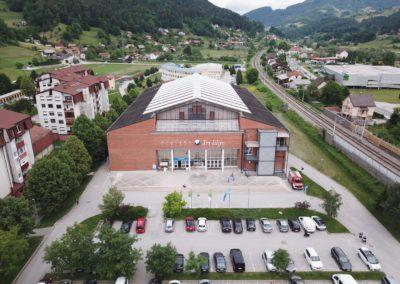Dvorana Tri Lilije from air