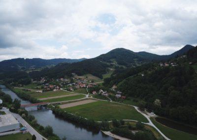 Jagoče area from air